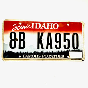 Idaho License Plate 8B KA950