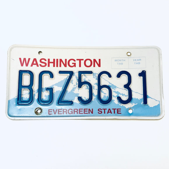 Washington License Plate BGZ5631