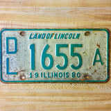 1980 Illinois Dealer License Plate Matched Set DL 1655 A - Synonyco.com