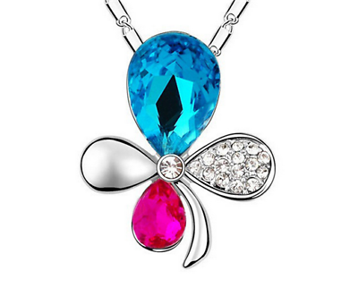 Jeweled Flower Necklace - Synonyco.com