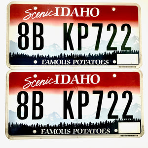 Untagged Idaho License Plate Pair KP722