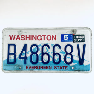 2019 Washington License Plate B48668V