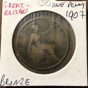 1907 Great Britain 1 Penny Coin - Synonyco.com