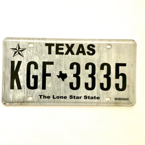 Texas License Plate KGF 3335