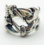 Stainless Steel Retro Punk Design Claws Ring Size 8 - Synonyco.com