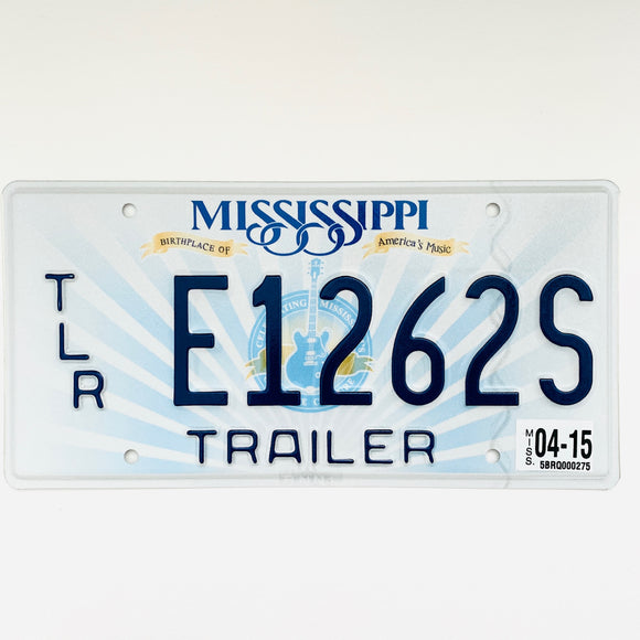 2015 Mississippi License Plate E1262S
