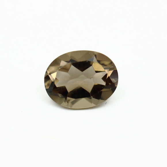 Smokey Quartz Oval Cut 1.96ct 9mm x 7mm - Synonyco.com