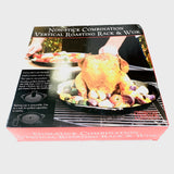 Charcoal Companion Non-Stick Combination Vertical Roasting Rack & Wok - Synonyco.com
