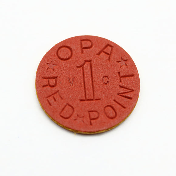 Authentic Vintage WWII OPA Red Ration Token - Synonyco.com