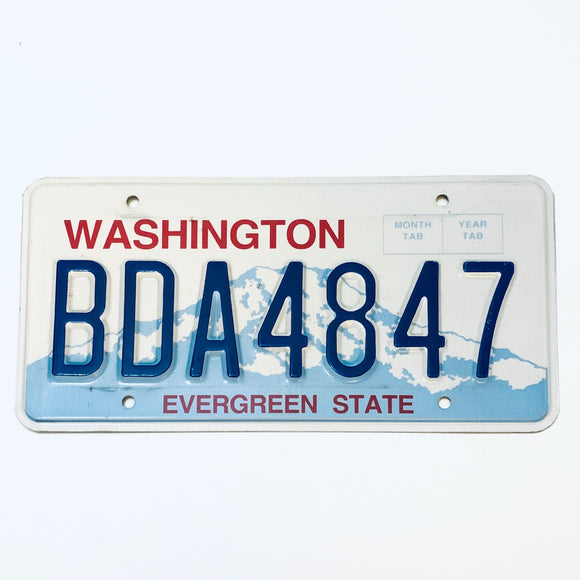 Washington License Plate BDA4847