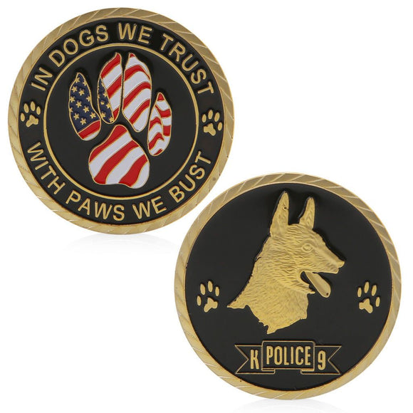 K9 Police Challenge Coin - Synonyco.com