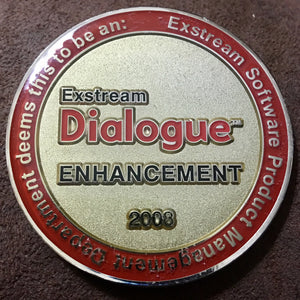 2008 Exstream Software Dialogue Enhancement Commemorative Coin - Synonyco.com