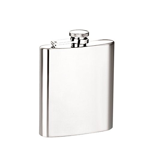 BROUK & CO. 2157 No Frills Stainless Steel Satin Finish Flask, 8 oz, Silver - Synonyco.com