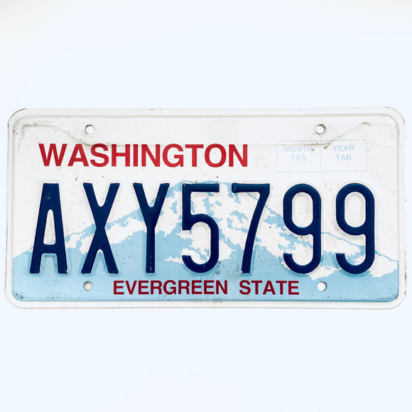 Washington License Plate AXY5799