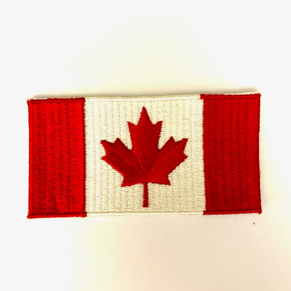 Vintage Canadian Flag Embroidered Patch