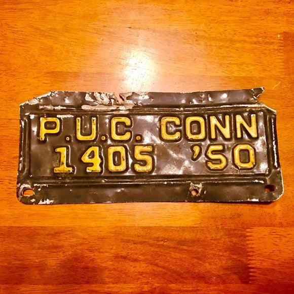 1950 Connecticut License Plate 1405