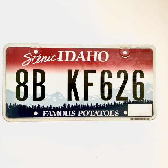 Idaho License Plate 8B KF626