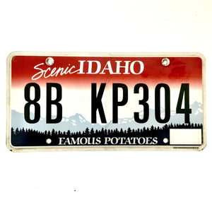 Idaho License Plate 8B KP304