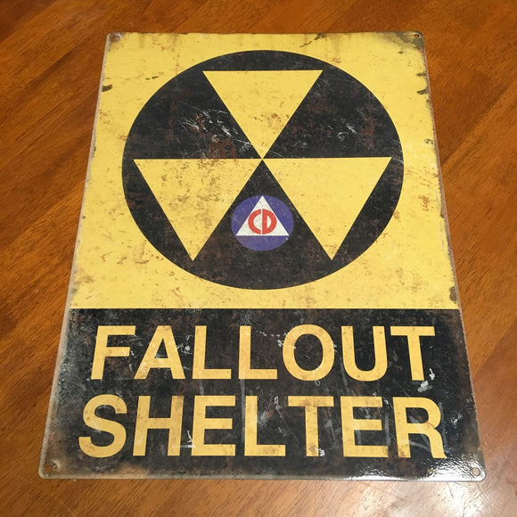 Fallout Shelter Distressed Metal Sign 12x16 - Synonyco.com