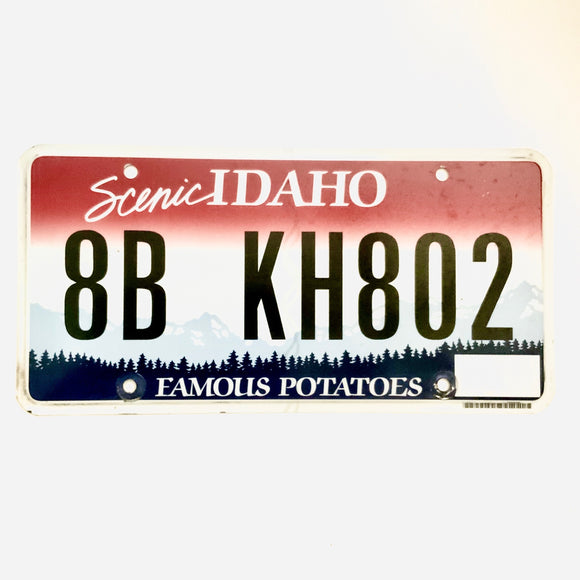 Idaho License Plate 8B KH802