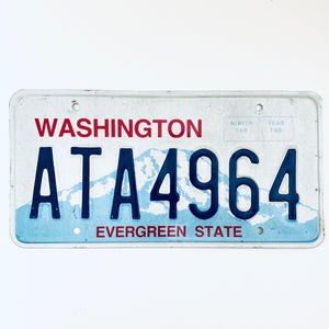 Washington License Plate ATA4964