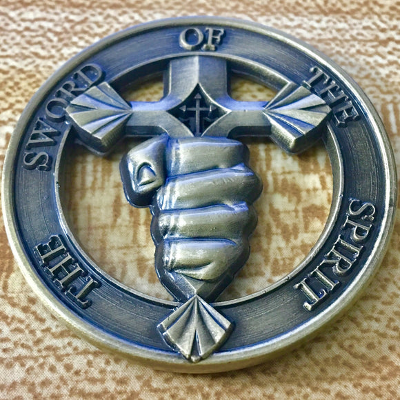Sword of the Spirit Challenge Coin - Synonyco.com