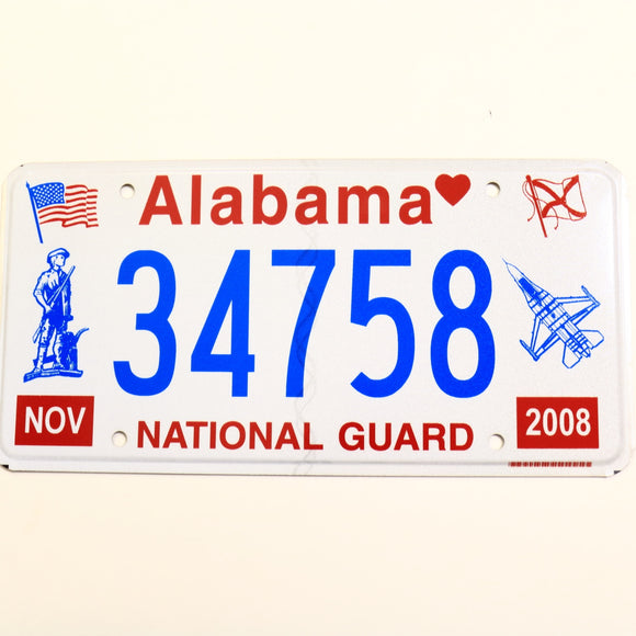 Alabama License Plate 34758
