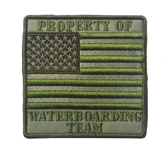 Property of Waterboarding Team Embroidered Tactical Patch