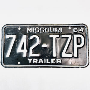 1984 Missouri License Plate 742-TZP