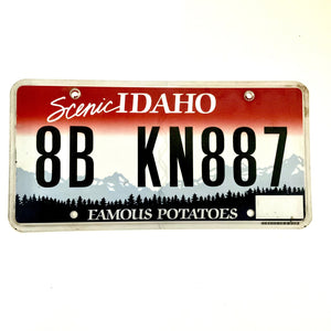 Idaho License Plate 8B KN887