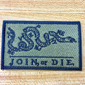 "Join or Die 3""x2"" Tactical Patch - Synonyco.com"