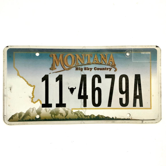 Untagged Montana License Plate 4679A