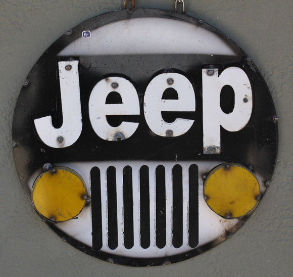 JEEP 4x4 Recycled Metal Sign 15 1/2