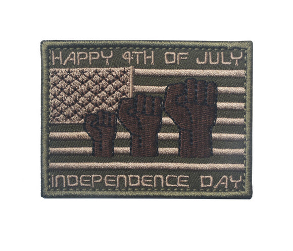Happy 4th of July Embroidered Tactical Patch