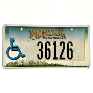Untagged Montana License Plate 36126