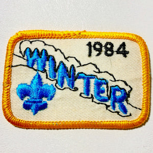 1984 Winter Camp Scout Iron-on Patch - Synonyco.com