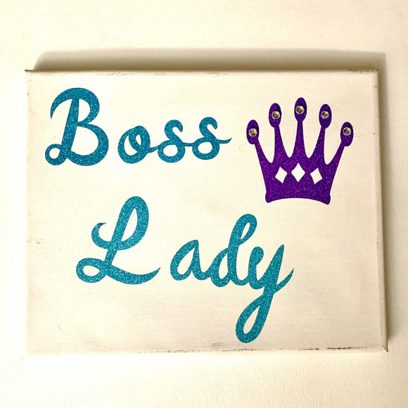 Boss Lady White Canvas Art Print