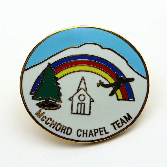 USAF McChord Air Force Base Chaplin Lapel Pin - Synonyco.com