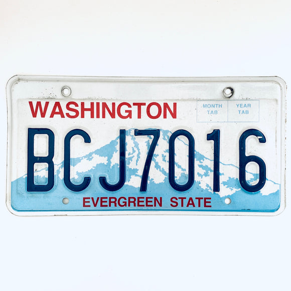 Washington License Plate BCJ7016