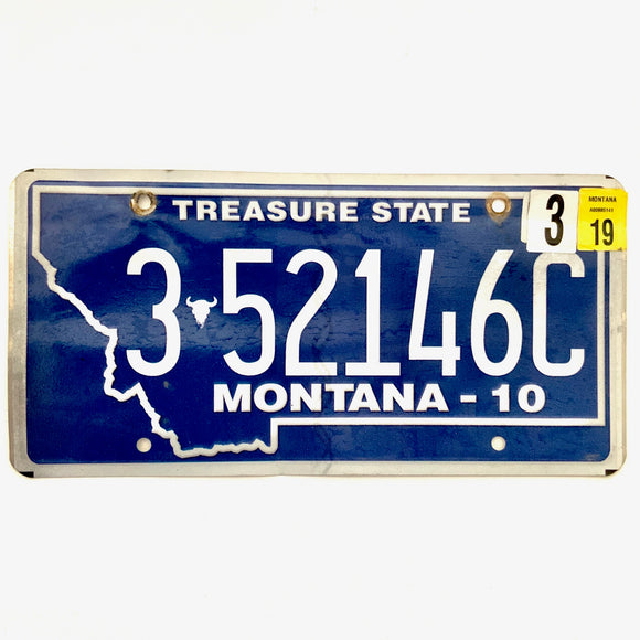 2019 Montana License Plate 3 52146C