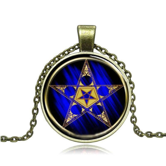 Five-Pointed Star Cabochon Necklace - Synonyco.com