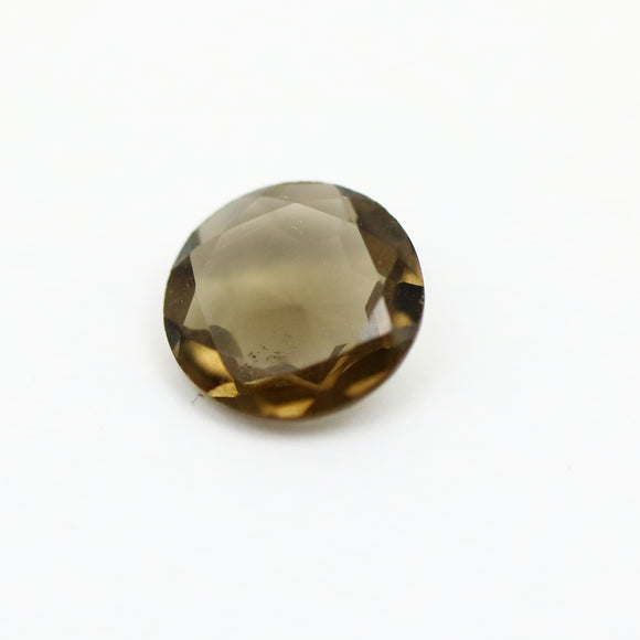 Smokey Quartz Round Cut .86ctw 7mm Gemstone - Synonyco.com