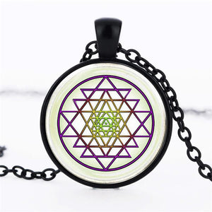 Geometric Cabochon Fashion Necklace - Synonyco.com