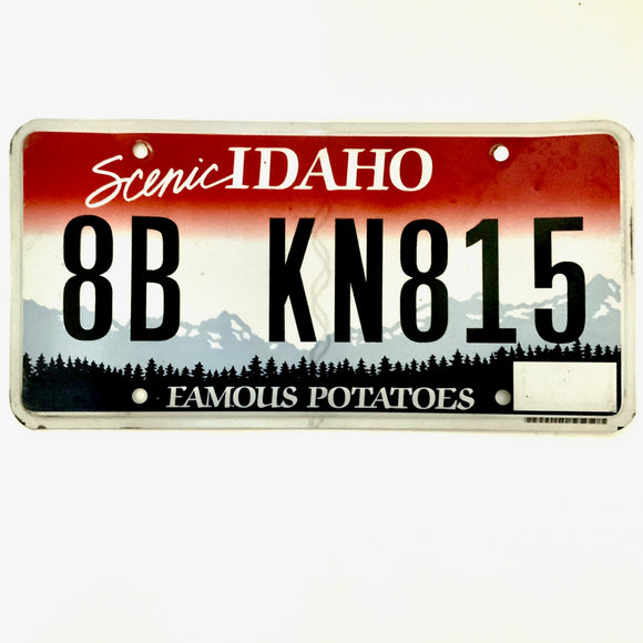 Untagged Idaho License Plate 8B KN815