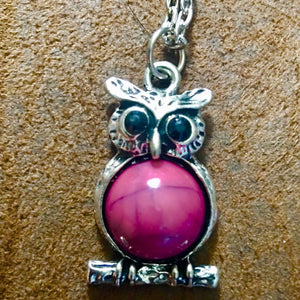 Purple Owl Necklace - Synonyco.com