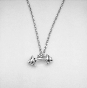 Barbell Weight Fashion Necklace