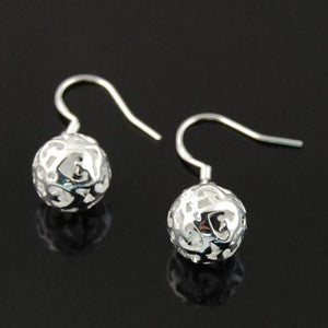 Hollow Dangle Ball Fashion Earrings