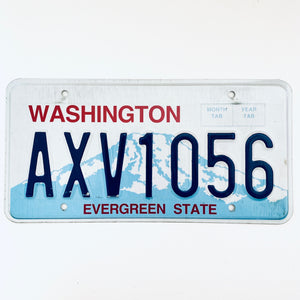 Washington License Plate AXV1056