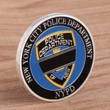 NYPD Blue Lives Matter Fidelis Ad Mortem Challenge Coin - Synonyco.com
