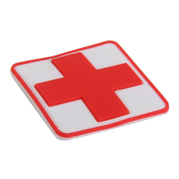 First Aid Red Cross PVC Patch